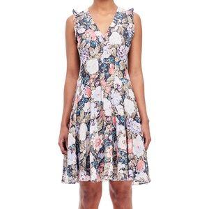 Rebecca Taylor V-Neck Floral Dress
